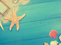 Vacation background in vintage toned colors Stock Images