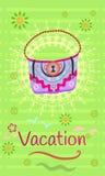 Vacation. Bag traveler Stock Photography
