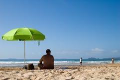 Vacation at beach. In Geriba stock image