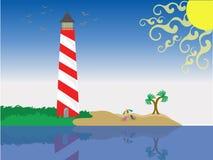 Vacation at beach. Near shoreline on a sunny day stock illustration