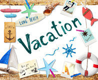 Vacation on the Beach Concept Royalty Free Stock Photography