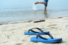 Vacation on beach Conceptual Image Stock Images