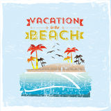 Vacation in the beach Royalty Free Stock Photos