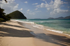 Vacation beach paradise. A beach in the British Virgin Islands Stock Photography