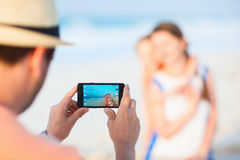 Vacation beach portrait Stock Images
