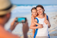 Vacation beach portrait Royalty Free Stock Photos