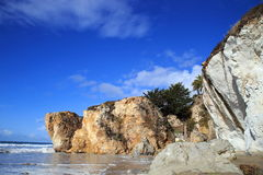 Vacation beach. Strolling at Pismo beach, California on a sunny afternoon Stock Photos