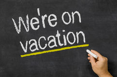We are on vacation Royalty Free Stock Images