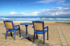 Vacation bliss. Chairs on a beach - summer vacation bliss Royalty Free Stock Photo