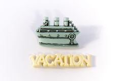 Vacation with Boat Royalty Free Stock Image