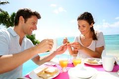 Vacation breakfast Stock Photos