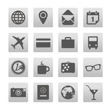 Vacation buttons collection Royalty Free Stock Photography