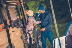 Vacation Camper Van Travel royalty free stock images