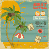 Vacation Card in retro Style Royalty Free Stock Photos