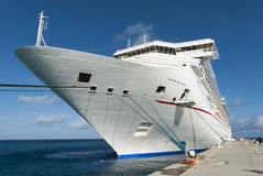 Vacation In Caribbean. The cruise liner arrived to Grand Turk island Turks & Caicos Royalty Free Stock Photo