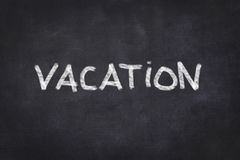 Vacation chalkboard background - handwritten Stock Images
