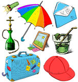 Vacation colorful collection Royalty Free Stock Photography
