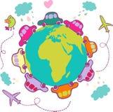 Vacation concept - cartoon vector. Vacation concept - colorful cartoon vector Stock Images