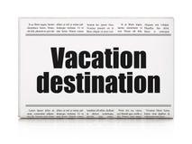 Vacation concept: newspaper headline Vacation Destination Stock Images