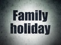 Vacation concept: Family Holiday on Digital Data Paper background. Vacation concept: Painted black word Family Holiday on Digital Data Paper background Stock Image