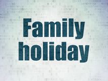 Vacation concept: Family Holiday on Digital Data Paper background. Vacation concept: Painted blue word Family Holiday on Digital Data Paper background Royalty Free Stock Images
