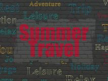 Vacation concept: Summer Travel on wall background Royalty Free Stock Image