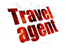 Vacation concept: Travel Agent on Digital background Royalty Free Stock Photography