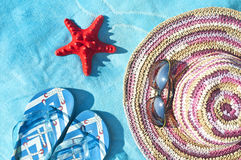 Vacation concept with summer items Stock Photo