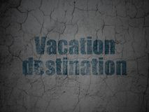 Vacation concept: Vacation Destination on grunge wall background Royalty Free Stock Images