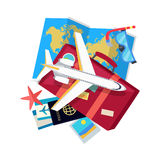 Vacation Conceptual Flat Style Vector Web Banner Stock Image