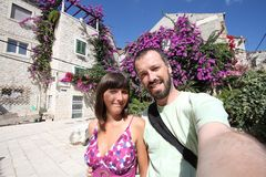 Vacation couple selfie Stock Image