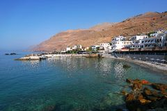 Vacation in Crete. South coast of island Crete, Greece Royalty Free Stock Images