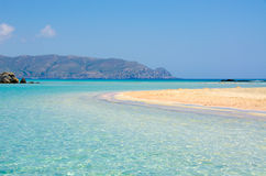 Vacation in Crete with Paradise Beach Elafonisi Royalty Free Stock Photography