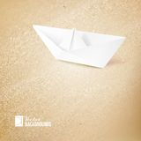 Vacation cruise illustration with ship and text Royalty Free Stock Photography