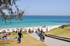 Vacation Day at Cottesloe Beach stock photography