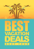 Vacation deals Stock Photo