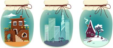 Vacation destination packages royalty free illustration