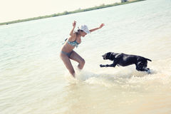 Vacation with dog Royalty Free Stock Images