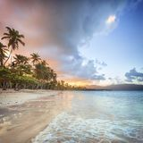Vacation in Dominican Republic stock image