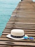 Vacation el tiempo de verano en el concepto de la playa Accesorios de la playa Fotos de archivo