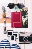 Vacation essentials. Stock Photos