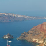 In vacation    europe cyclades santorini old town white and the Royalty Free Stock Photography
