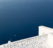 In vacation    europe cyclades santorini old town white and the Royalty Free Stock Image