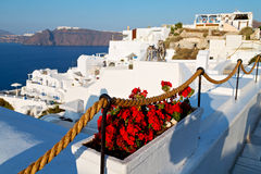In vacation    europe cyclades  and the sky Stock Photography