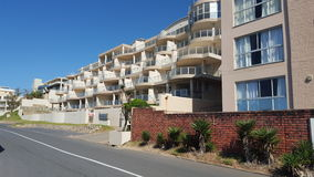 Vacation flats. Ocean south Africa beach Street view Royalty Free Stock Photography