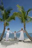 Vacation in Florida. Two women with a little girl enjoying their vacation on the beach in Florida, USA Royalty Free Stock Photo
