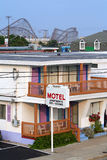 Vacation Getaway. Rooftop view of a vacation resort town royalty free stock image