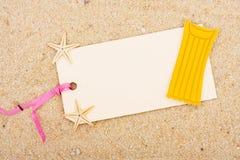 Vacation Gift Tag Stock Image