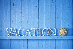 Vacation Globe Word Background Royalty Free Stock Photo