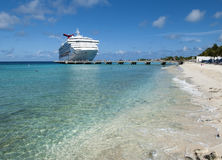 Vacation In Grand Turk. The cruise liner arrived to Grand Turk island, the popular touristic destination in Caribbean Turks & Caicos Stock Images